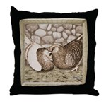 Stone Homer Pigeons Throw Pillow