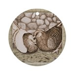 Stone Homer Pigeons Ornament (Round)