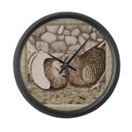 Stone Homer Pigeons Large Wall Clock
