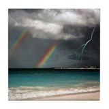 "Turks & Caicos ""Rainbows""  Tile Coaster"