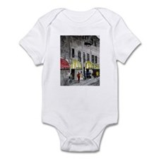 cityscape pen and ink illustr Infant Bodysuit
