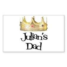 Julian's Dad Rectangle Decal