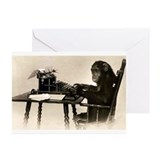 Typing Chimpanze Greeting Cards (Pk of 10)