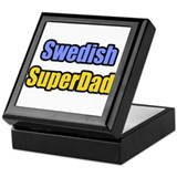 """Swedish SuperDad"" Keepsake Box"