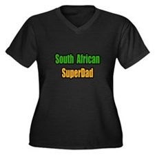 """""""South African Super Dad"""" Women's Plus Size V-Neck"""