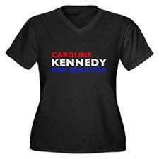 Kennedy for Senator Women's Plus Size V-Neck Dark