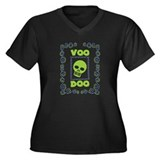 Voodoo Skull Women's Plus Size V-Neck Dark T-Shirt