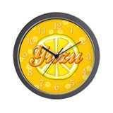 Yuzu Fruit Wall Clock