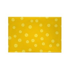 Retro Citrus Pattern Rectangle Magnet