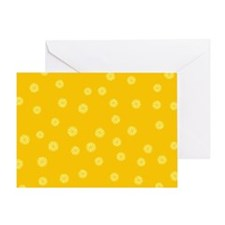 Retro Citrus Pattern Greeting Card