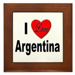 I Love Argentina Framed Tile