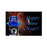 New Years Boxer Rectangle Magnet (100 pack)