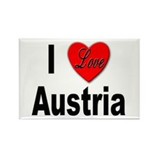 I Love Austria Rectangle Magnet (10 pack)