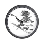 King Of The Slopes Wall Clock