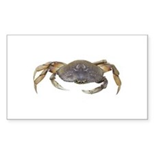 Dungeness Crab Rectangle Sticker 10 pk)