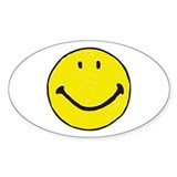 Original Happy Face Oval Decal