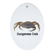 Dungeness Crab Oval Ornament