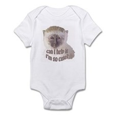 cute vervet monkey Infant Bodysuit