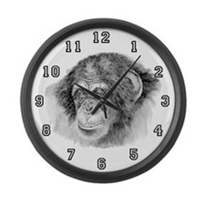 chimp Large Wall Clock