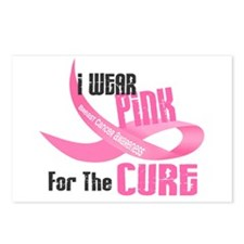 I Wear Pink For The Cure 33 Postcards (Package of
