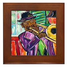 New Orleans Jazz  Framed Tile