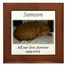 Custom personalized Pet Memorial Framed Tile