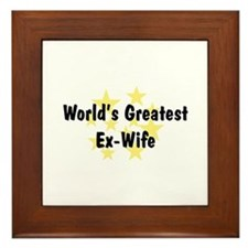 WG Ex-Wife Framed Tile