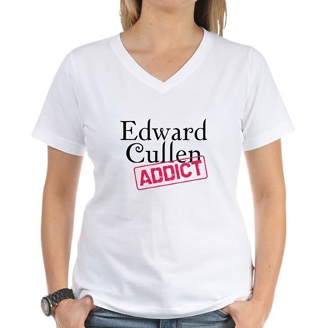 Edward Cullen Addict Women's V-Neck T-Shirt