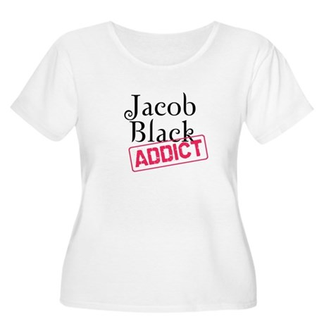 Jacob Black Addict Women's Plus Size Scoop Neck T-