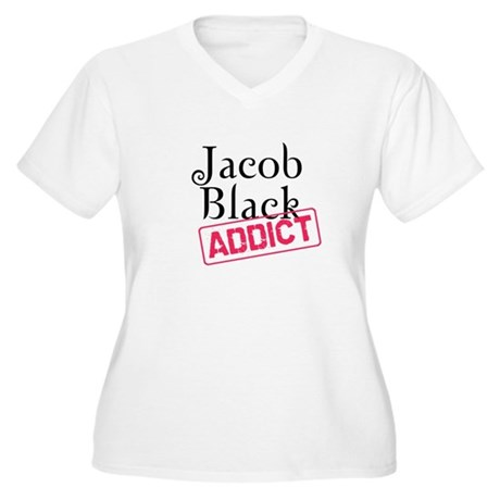 Jacob Black Addict Women's Plus Size V-Neck T-Shir