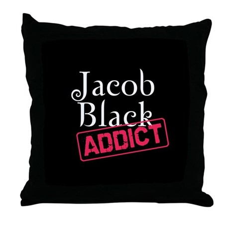 Jacob Black Addict Throw Pillow