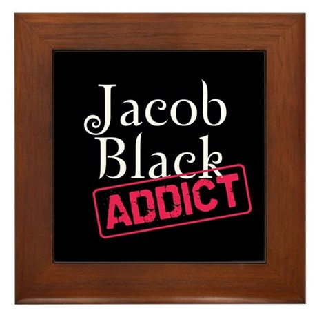 Jacob Black Addict Framed Tile