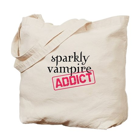 Sparkly Vampire Addict Tote Bag