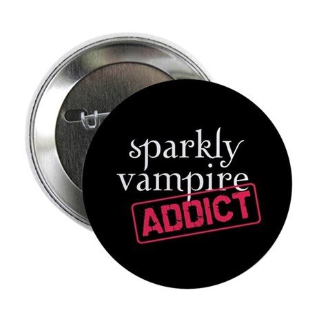 "Sparkly Vampire Addict 2.25"" Button (100 pack)"