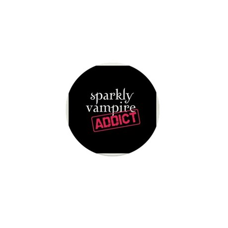 Sparkly Vampire Addict Mini Button