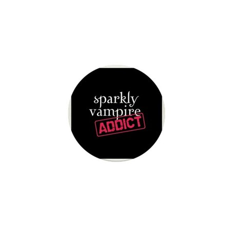 Sparkly Vampire Addict Mini Button (10 pack)