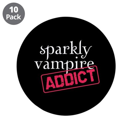 "Sparkly Vampire Addict 3.5"" Button (10 pack)"