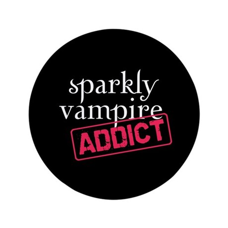 "Sparkly Vampire Addict 3.5"" Button (100 pack)"