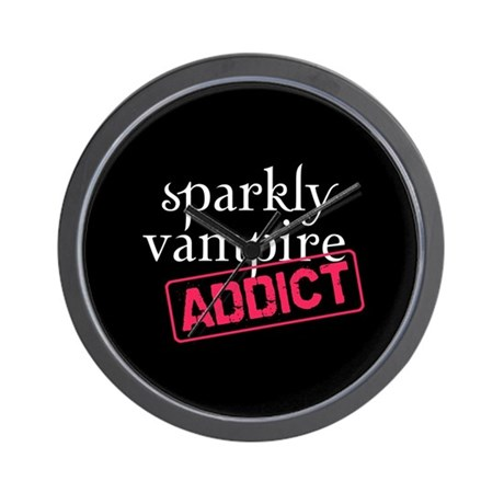 Sparkly Vampire Addict Wall Clock