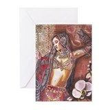 Cute Eastern art Greeting Cards (Pk of 10)