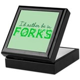Rather Be In Forks Keepsake Box