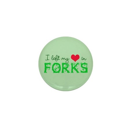 I Heart Forks Mini Button (10 pack)