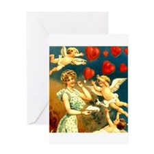Valentine Cupids Greeting Card