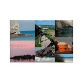 Bermuda Collage by Khoncepts Rectangle Magnet