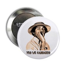 "Barack Obama: YES WE CANNABIS - 2.25"" Button (100"