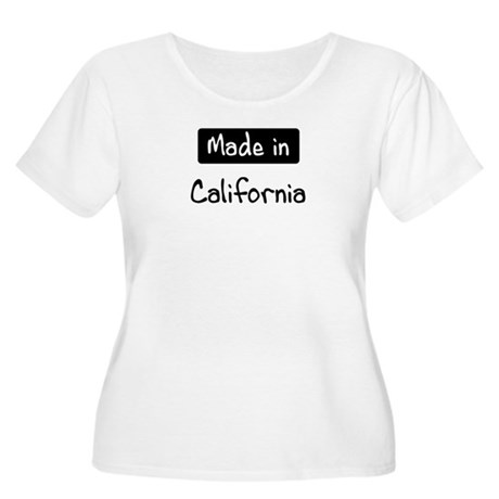 Made in California Women's Plus Size Scoop Neck T-