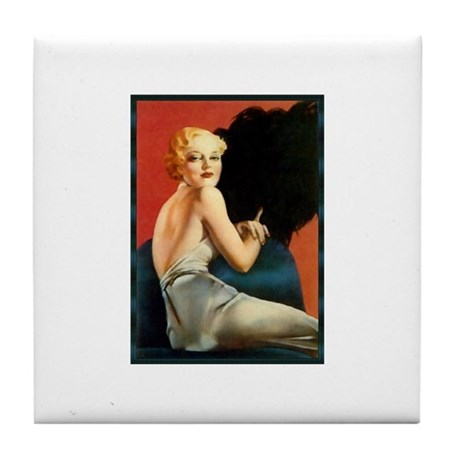 Pinup Girl Tile Coaster