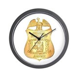 FBI Badge Wall Clock