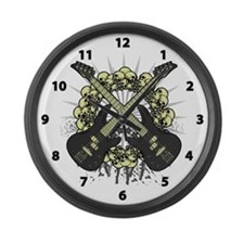Guitars Skulls Large Wall Clock