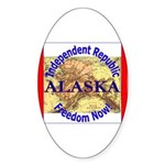 Alaska-3 Oval Sticker (50 pk)